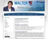 Diseño web para Walter Roldán