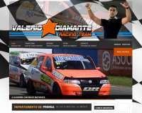 Diseño web para piloto Valerio Diamante